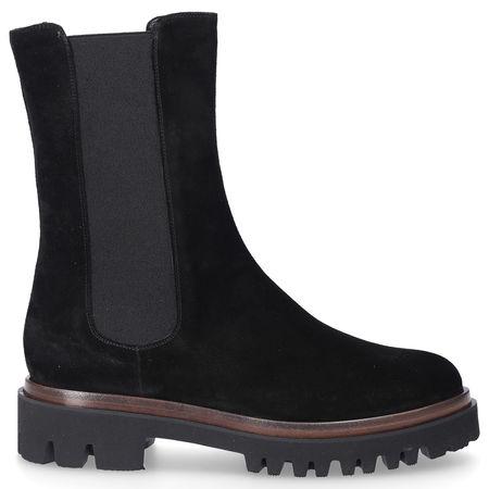 Truman's Chelsea Boots 9210 Veloursleder schwarz