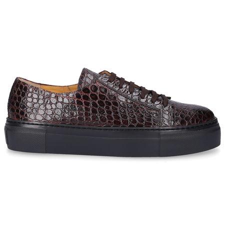 Truman's  Sneaker low 9093 Kalbsleder Prägung braun grau