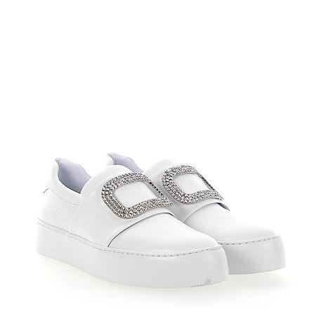 Truman's Sneaker Slip-On 8752 Kalbsleder  Kristallverzierung weiß grau