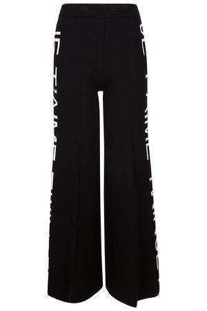 Twinset gestrickte Damen Hose Schwarz schwarz