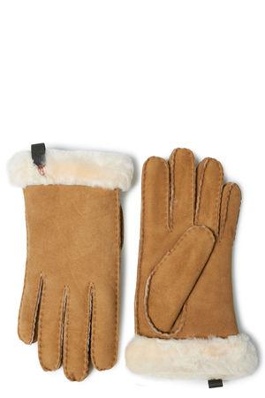 UGG Australia UGG Lederhandschuhe mit Lammfellfütterung Damen Farbe: camel verfügbare Größe: L orange