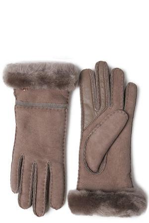 UGG Australia UGG Lederhandschuhe mit Lammfellfütterung Damen Farbe: taupe verfügbare Größe: S M braun