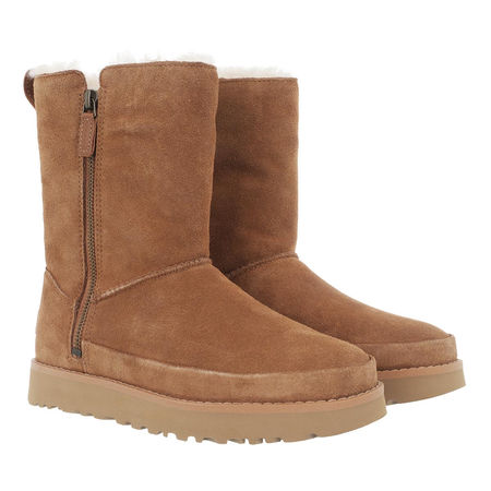 UGG  Boots & Stiefeletten - Classic Zip Short Boot - in cognac - für Damen braun