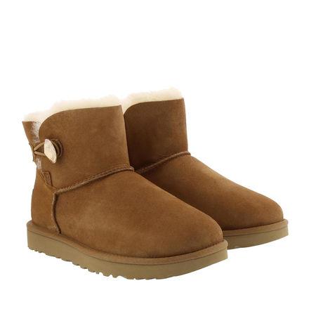 UGG  Boots & Stiefeletten - Mini Bailey Button Bling Boot - in cognac - für Damen braun