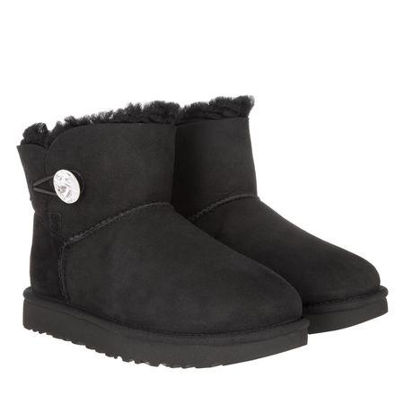 UGG  Boots & Stiefeletten - Mini Bailey Button Bling - in black - für Damen schwarz