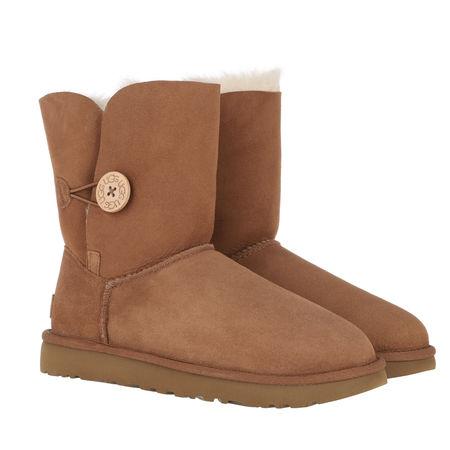 UGG  Boots & Stiefeletten - W Bailey Button II - in cognac - für Damen braun