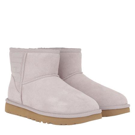 UGG  Boots & Stiefeletten - W Classic Mini Rubber Logo - in grau - für Damen