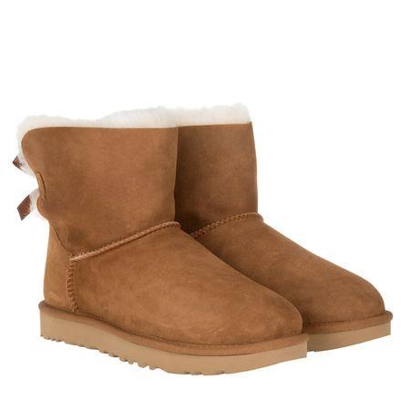 UGG  Boots & Stiefeletten - W Mini Bailey Bow II - in cognac - für Damen braun