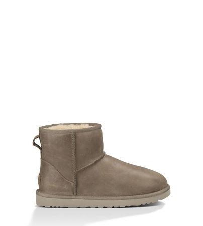 UGG  Classic Mini Leather Stiefel für Damen aus Leder in Feather Größe 36 braun