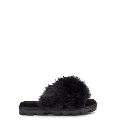 UGG  Fuzzalicious Sliders für Damen in Schwarz Größe 37 schwarz