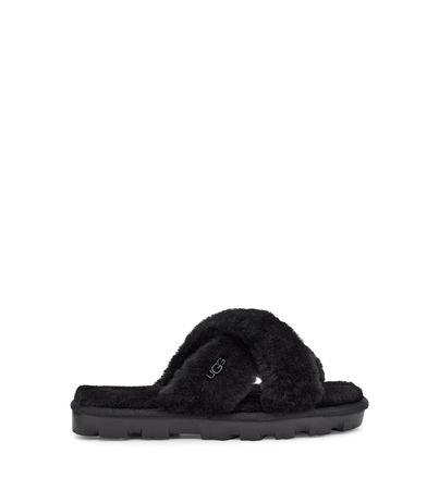 UGG  Fuzzette Sliders für Damen in Schwarz Größe 36 schwarz