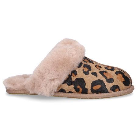 UGG Hausschuhe SCUFETTE II LEOPARD Lammleder leopard braun