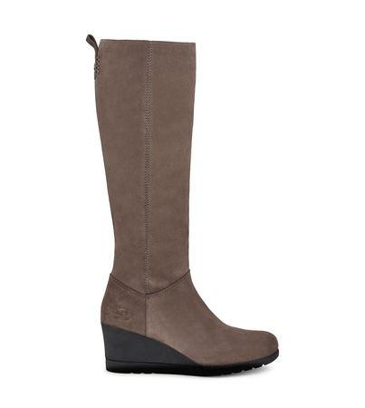 UGG  Oliveira Tall Warme Stiefel für Damen aus Veloursleder in Mole Größe 36 braun