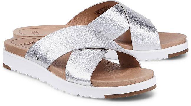 UGG Sandale Kari Metallic von  in silber grau