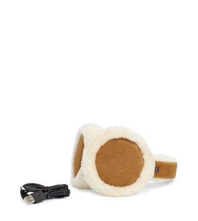 UGG  Sheepskin Bluetooth Ohrenschützer für Damen in Braun gruen