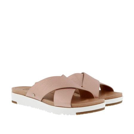 UGG  Slipper & Pantoletten - Kari Metallic Sandal - in rosa - für Damen braun