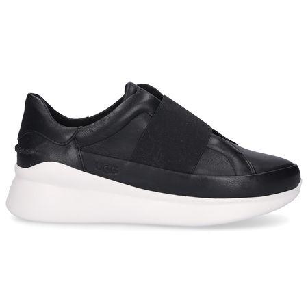 UGG Sneaker low LIBU Kalbsleder Logo schwarz grau