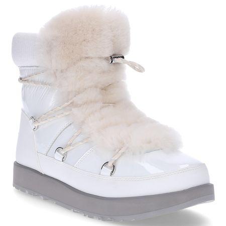 UGG Snowboots HIGHLAND WATERPROOF  Glattleder Fellschaft weiß grau