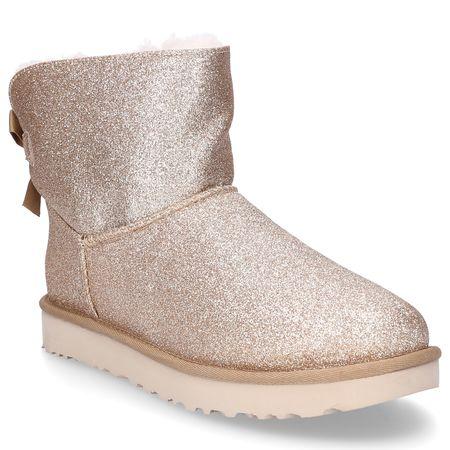 UGG  Stiefeletten MINI BAILEY  Glitter Textil Schleife gold braun