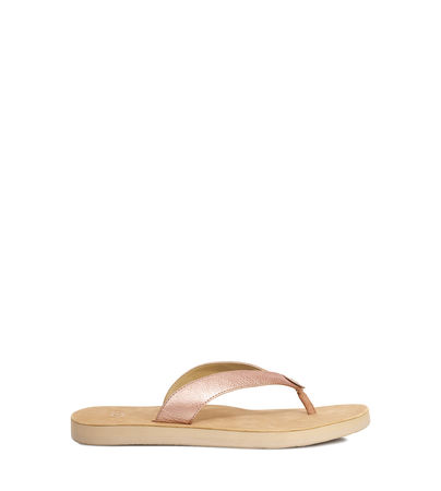 UGG  Tawney Metallic Flip-Flops Damen Rose Gold 37 orange
