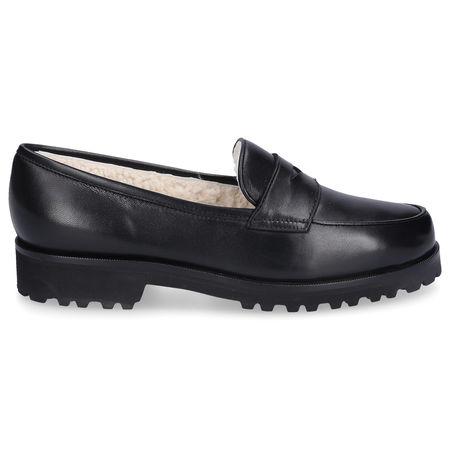 Unützer Loafer 1471 Nappaleder schwarz schwarz