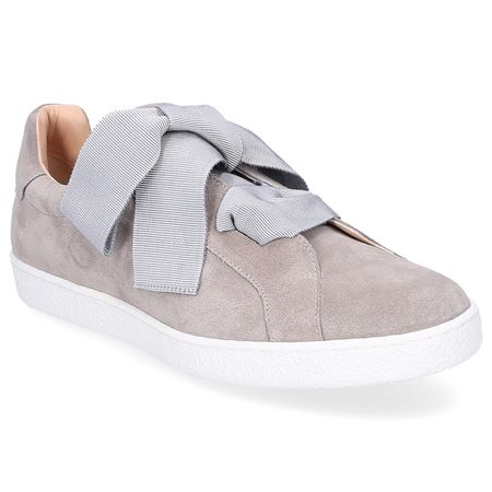 Unützer  Sneaker low 8254 Veloursleder grau braun