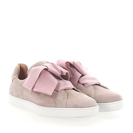 Unützer  Sneaker low Kalbsleder  Veloursleder rosa braun