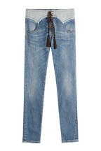 Roberto Cavalli Geschnürte Jeans im Western-Stil