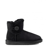 Ugg Mini Bailey Button Schwarz