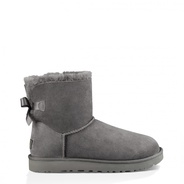 Ugg Mini Bow Grau