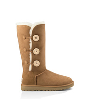 UGG Bailey Button Triplet Ii Classic Boot Damen Chestnut 40
