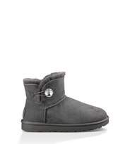 UGG Mini Bailey Button Bling Stiefel Damen Grey 36