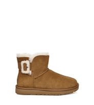 UGG Mini Bailey Fluff Buckle Stiefel Damen Chestnut 43
