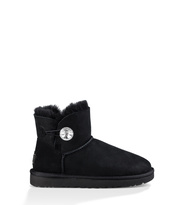 UGG Mini Bailey Button Bling Classic Boot Damen Schwarz 37