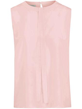 Uta Raasch Ärmellose Bluse aus 100% Seide  rosé rot