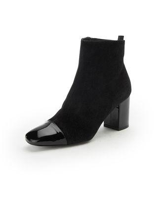 Uta Raasch Modische Stiefelette aus 100% Leder  schwarz schwarz