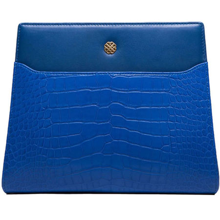 Utmon es pour Paris  Switchbag Numéro 8 Krokodilleder Blau  Damen blau