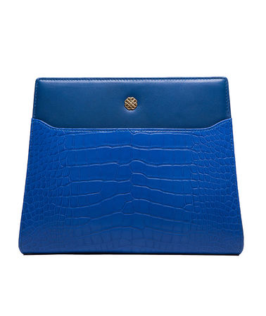Utmon es pour Paris UTMON NUMÉRO 8 Tasche Clutch Leder Krokodilleder Blau Damen unisize blau