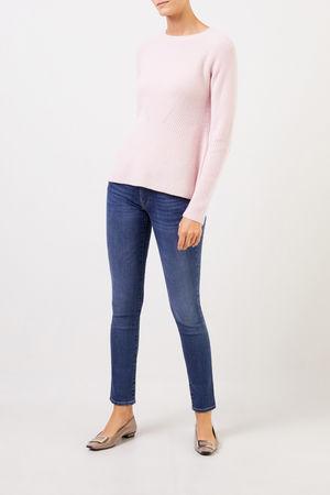 Uzwei  - Cashmere-Pullover mit Strickdetail Rosé 100% Cashmere