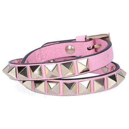 Valentino  Armband ROCKSTUD Kalbsleder Nieten gold rosé rosa