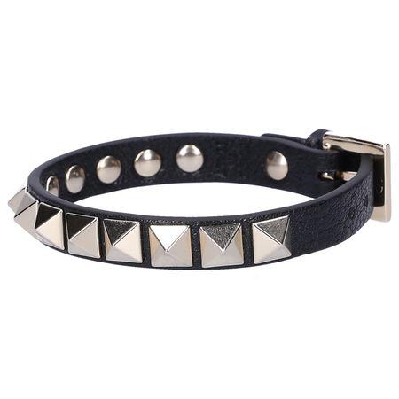 Valentino  Armband ROCKSTUD Kalbsleder Nieten gold schwarz schwarz