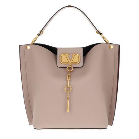 Valentino  Beuteltasche  -   Bucket Bag Leather Poudre  - in rosa  -  Beuteltasche für Damen braun