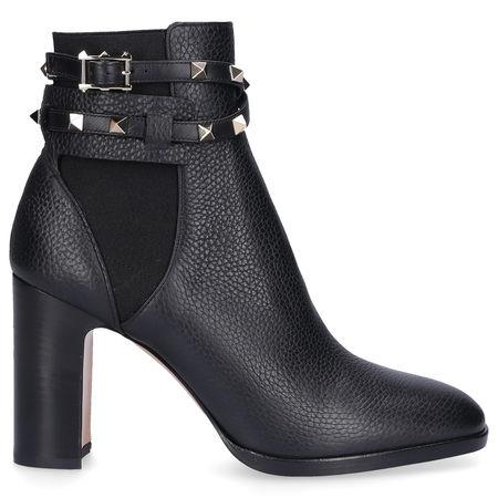 Valentino  Chelsea Boots BEATLE STRAP  Hirschleder Nieten schwarz grau