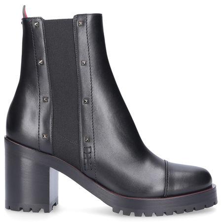 Valentino  Chelsea Boots ROCKSTUD  Kalbsleder  Metallisch Nieten schwarz