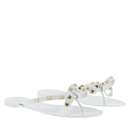 Valentino  Garavani Sandalen & Sandaletten - Rockstud Flip Flops - in weiß - für Damen braun