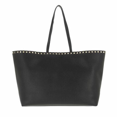 Valentino Garavani  Shopper - Rockstud Studded Shopping Bag Leather - in schwarz - für Damen