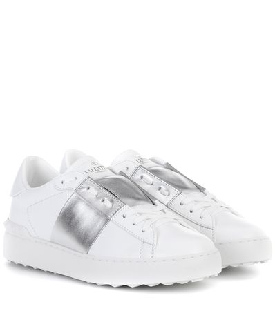 Valentino  Garavani Sneakers Open aus Leder grau