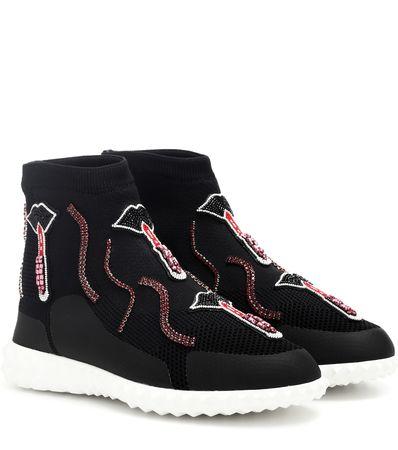 Valentino  Garavani verzierte High-Top-Sneakers schwarz