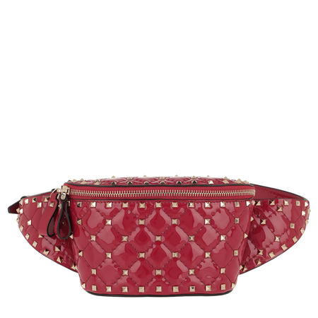 Valentino  Gürteltasche  -  Fanny Pack Spike Patent Leather Red  - in rot  -  Gürteltasche für Damen pink
