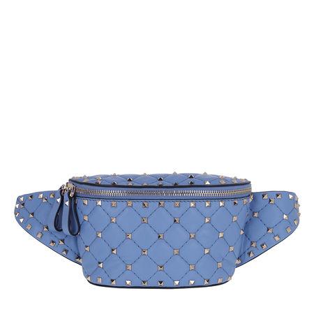 Valentino  Gürteltasche  -  Rockstud Spike Belt Bag Angel  - in blau  -  Gürteltasche für Damen blau